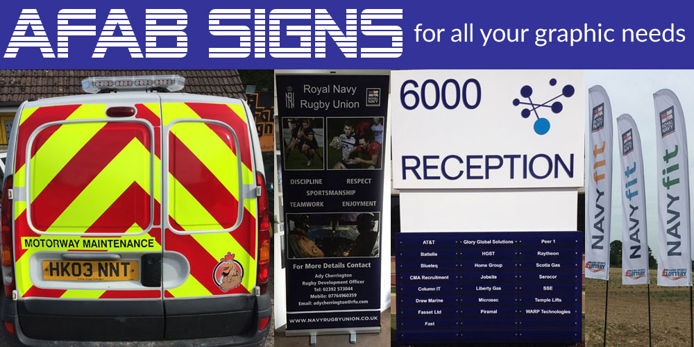 AFab Signs Portsmouth - Graphics, Banners for shops and vehicles