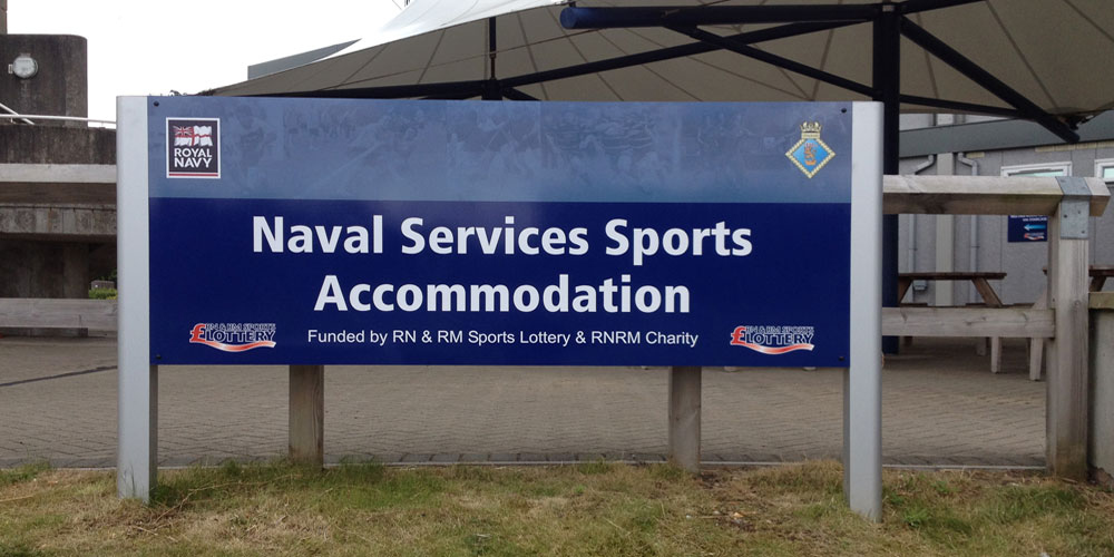 Royal Navy Sports Outdoor Sign